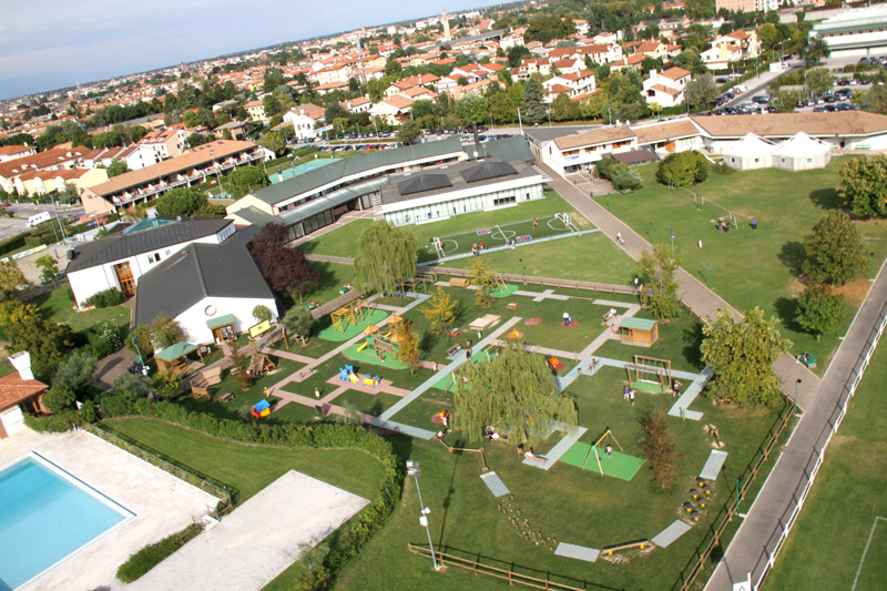 """Il Parco Giochi """"Primo Sport 0246"""" realizzato presso il Centro Sportivo La Ghirada di Treviso"""