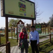 Il Prof Yamatzu e la Dott.ssa Tortella hanno visitato il parco di Treviso lo scorso 29 marzo.
